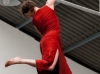 L\'Offrande : Anne-Marie Michel (danse verticale), Éric Brochard (contrebasse)