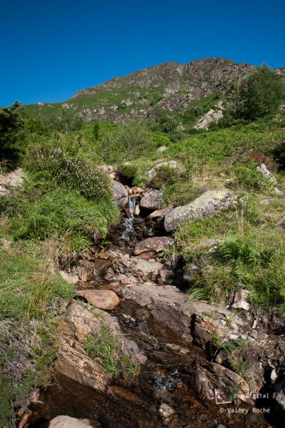 de multiples ruisseaux s'écoulent dans tout le massif