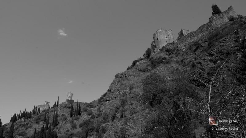 les châteaux de Lastours, actuellement