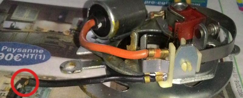 fil condensateur dénudé